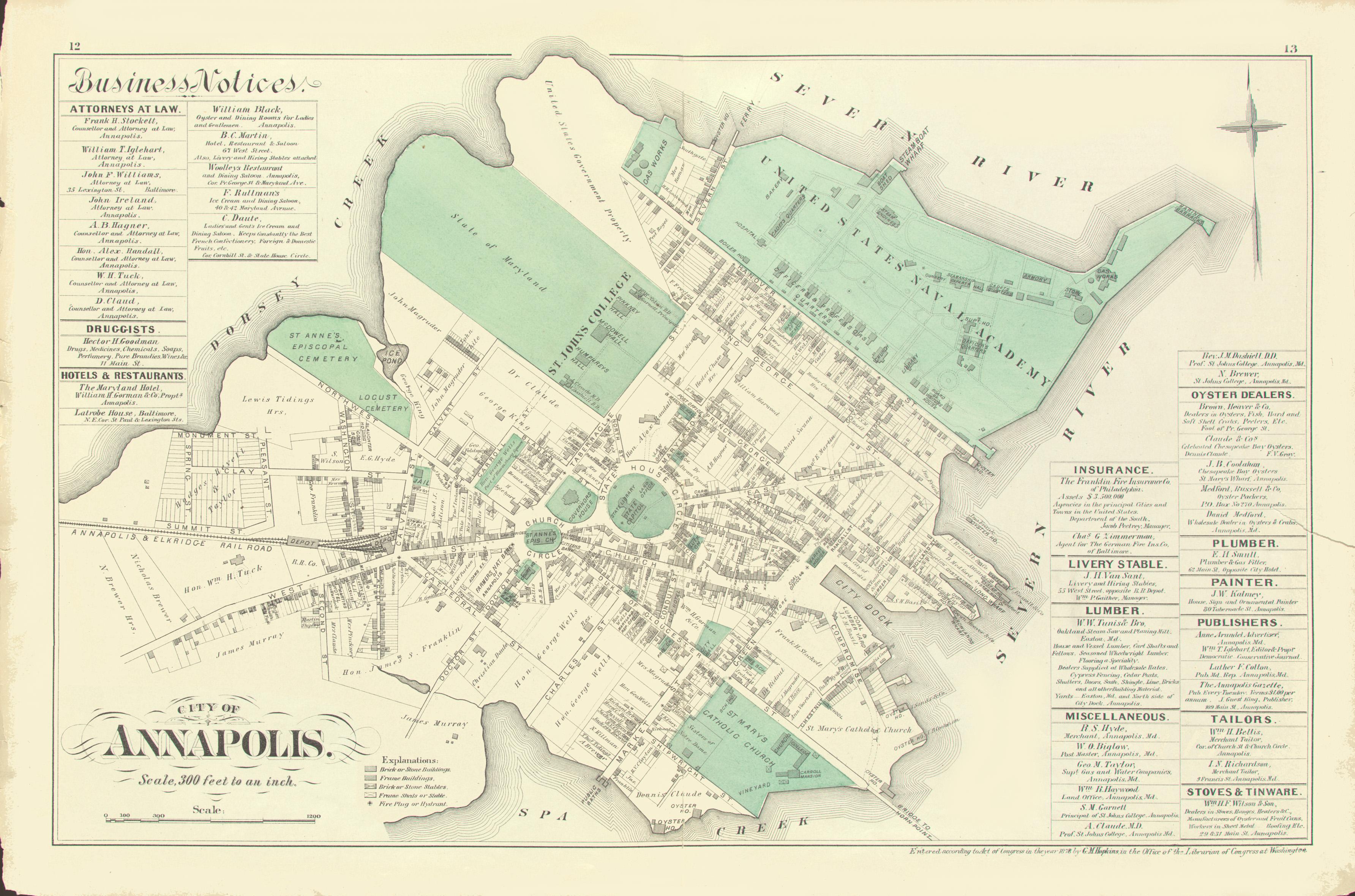ANNE ARUNDEL CO.] Atlas of Fifteen Miles Around Baltimore ...