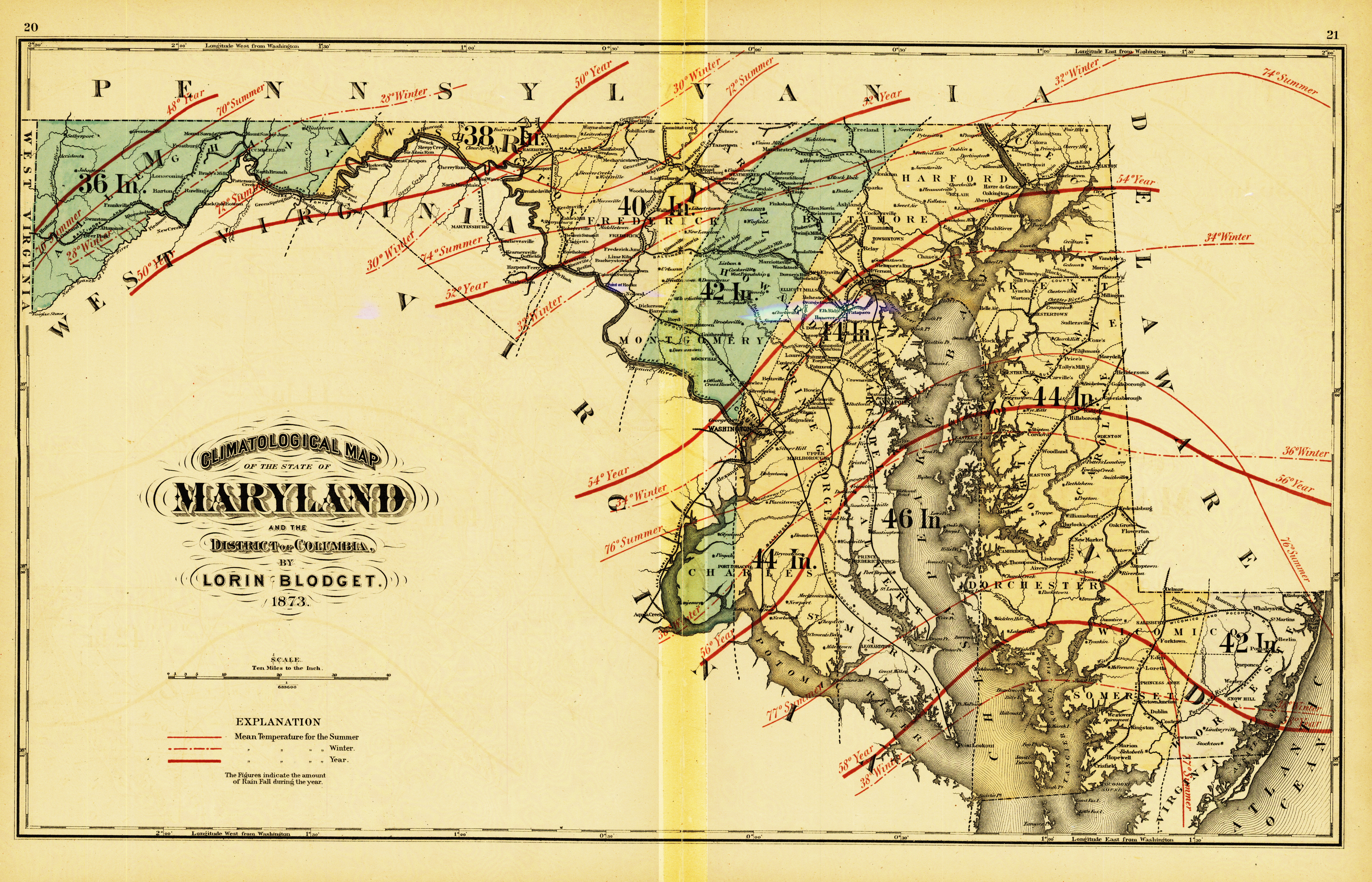 MARYLAND] New Topographical Atlas of the State of Maryland