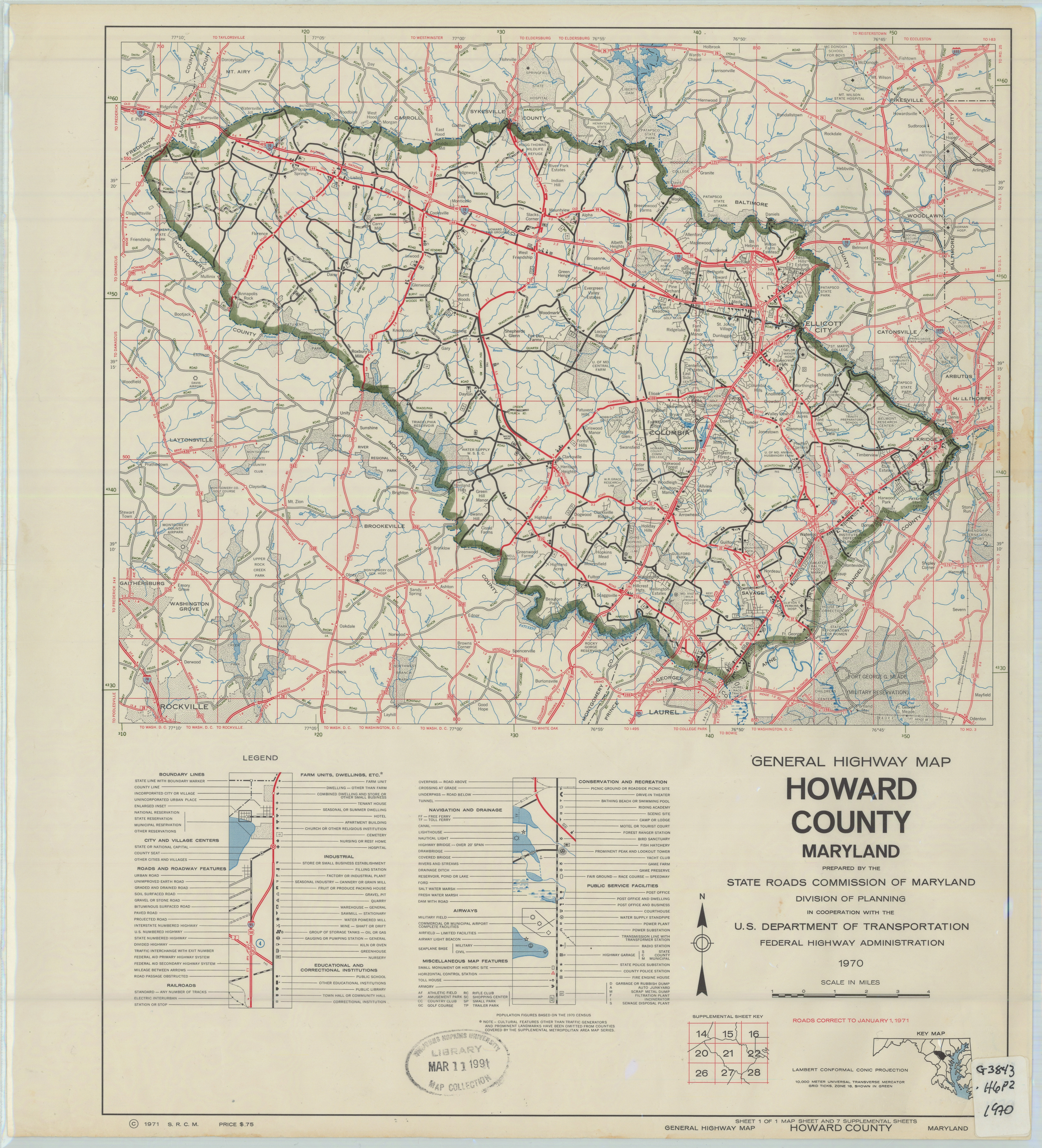 General Highway Map Howard County Maryland - Maryland road map