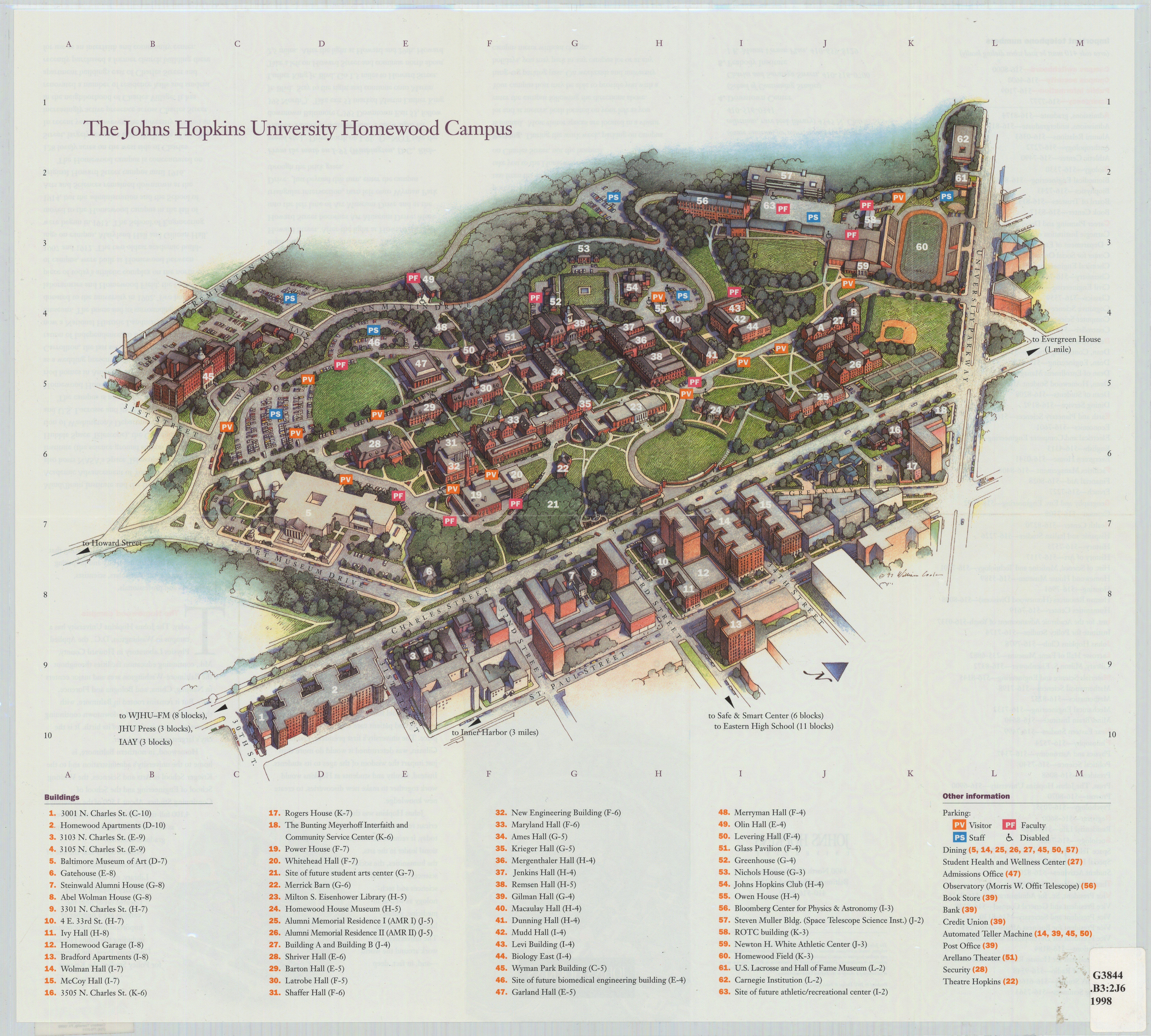 Jhh Campus Map.The Johns Hopkins University Homewood Campus
